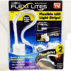 Set 2 benzi LED autoadezive pentru decor Stick N Click Flexi Lites