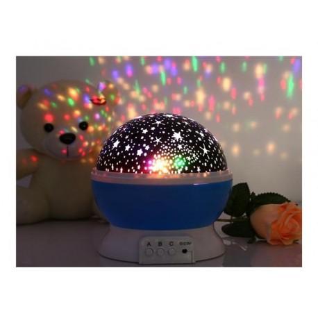 Lampa de veghe Star Master - proiector rotativ cu stele si luna - cu functie de rotatie la 360 grade