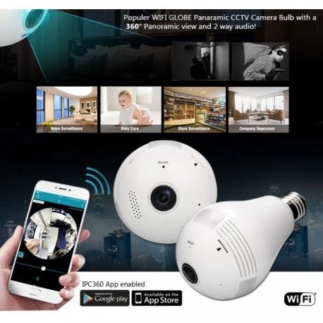 Bec inteligent cu camera de supraveghere IP Wireless