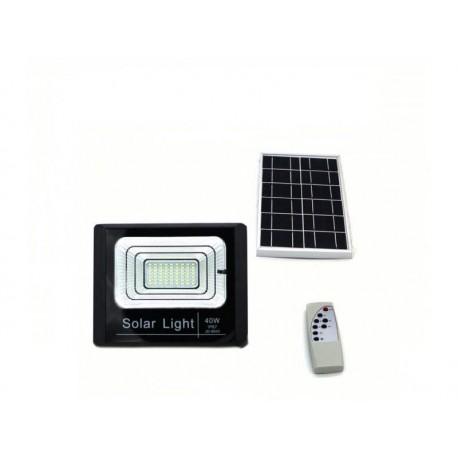 Proiector LED exterior 40W alb rece cu panou solar, Solar Light IP 67