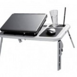 E-Table - masa suport cu 2 coolere cu, suport pahar si mouse pad incluse