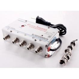 Amplificator de semnal TV cu 4 iesiri
