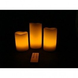 Set 3 lumanari LED electronice cu telecomanda